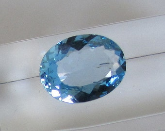 Natural Sky Blue Topaz, Blue Topaz, Switzerland, semi precious stone blue jewelry, Semi precious gemstone, gift for men