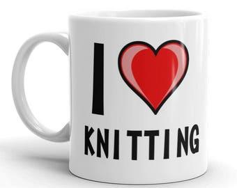 I Love Knitting Novelty Gift Mug