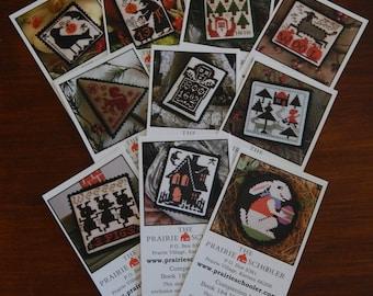 Mini Card Set E (Black Crow) by The Prairie Schooler