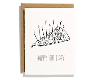 Pizza Birthday - Letterpress Birthday Card - CBR138
