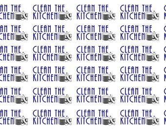 Clean the Kitchen Wordy Icons WI0057