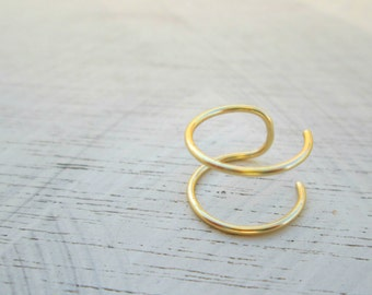 GOLD NOSE CUFF // Double Nose Cuff // No Piercing Fake Nose Ring