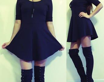 Curved Hem Skater Dress