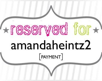 amandaheintz2: Payment for Custom Black Tie Calligraphy Wedding Invitations