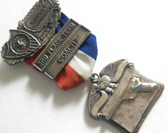 1969 NRA National Championships 3rd Place Team Coach Gun Medal Free Shipping