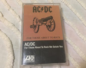 AC DC Ac/Dc For Those About To Rock We Salute You Music Cassette Tape
