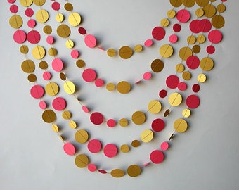 Gold wedding decorations Gold wedding garland Gold garland