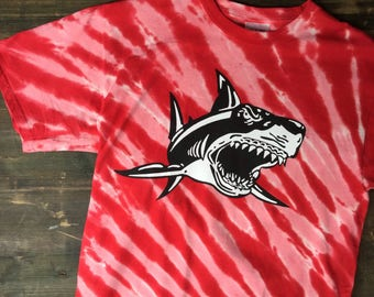 Tie-Dye College Football Sharks T-Shirt