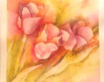Tulips - Original Watercolor Painting