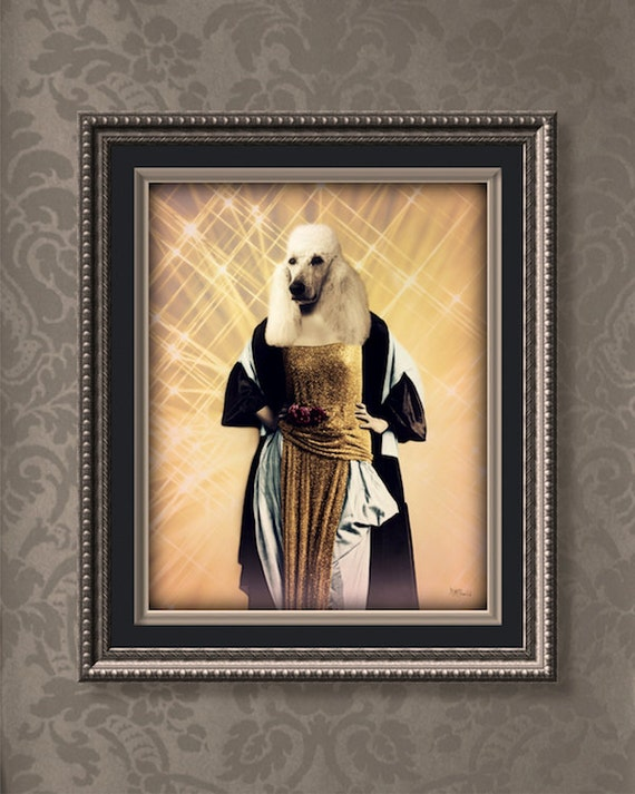 Poodle Art Print Dog Wall Art Diva Anthropomorphic Movie