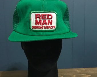 Vintage Red Man Chewing Tobacco Hat