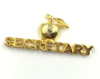 VTG DeadStock SECRETARY Lapel Pin