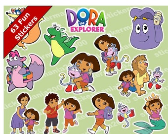 63 Dora the Explorer Fun Sticlers