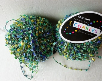 Yarn Sale  -Greens, Yellow and Blues 6 Cancun by Stacy Charles