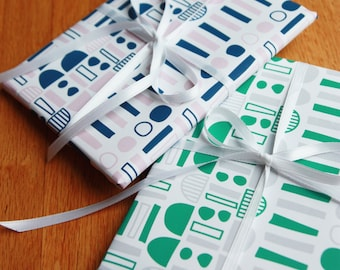 2 colors printable gift wrapping paper / nordic pattern wrapping paper / instant download /scandinavian pattern