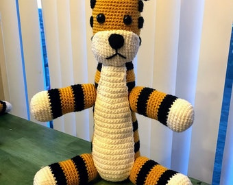 Jumbo Tiger Doll Inspired by Calvin and Hobbes Amigurumi Plush