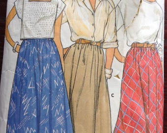 Flared  skirt Butterick pattern