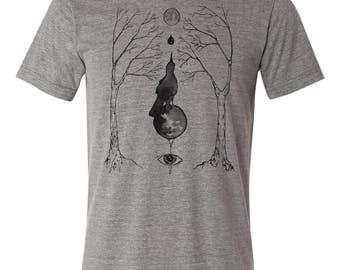 "Triblend ""Magical Grackle"" shirt - magic t shirt - esoteric shirt - occult shirt"
