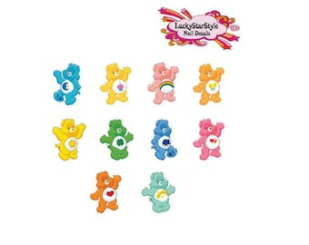 Waterslide Nail Decals Set of 20 - Care Bears Assorted