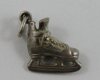 Ice Skate Sterling Silver Vintage Charm For Bracelet