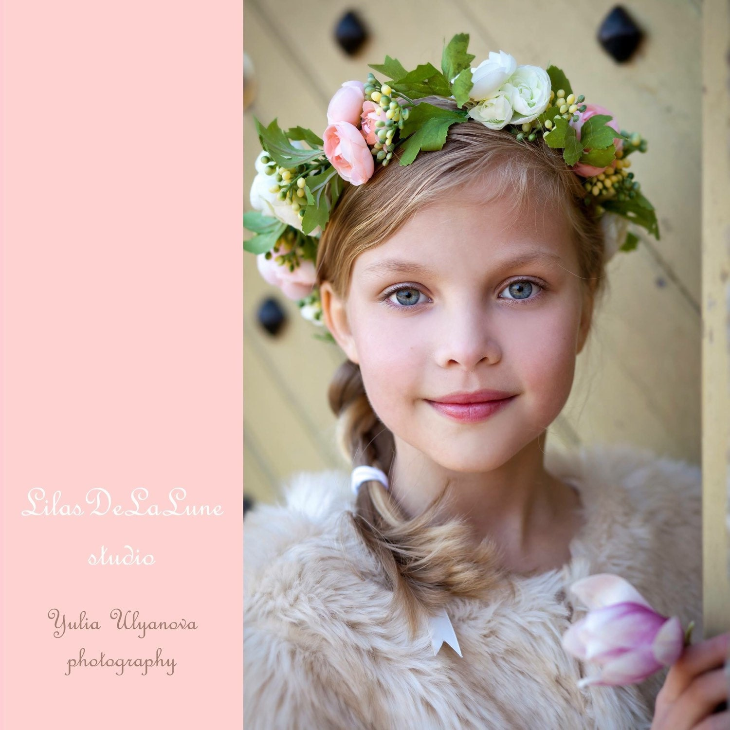 Baby child toddler flower crown headbandgirl flower crown description stunning girl flower crown izmirmasajfo Gallery