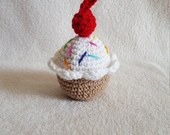 Cupcake Pincushion, Crochet Toys, Crochet Cupcake, Crochet Play Food, Plush Toy, Kids Toy, Stuffed Cupcake, Amigurumi Cupcake, Amigurumi