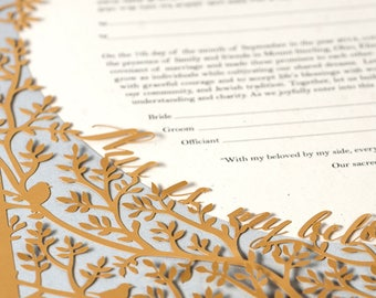 Papercut Ketubah - Beloveds - Modern Jewish Wedding - Eco-friendly
