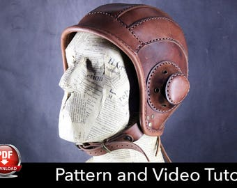 Aviator Cap Pattern - Halloween DIY - Pdf Download
