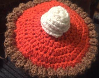 Crochet pumpkin pie