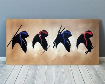 Teenage Mutant Ninja Turtles Hand Painted Canvas Art