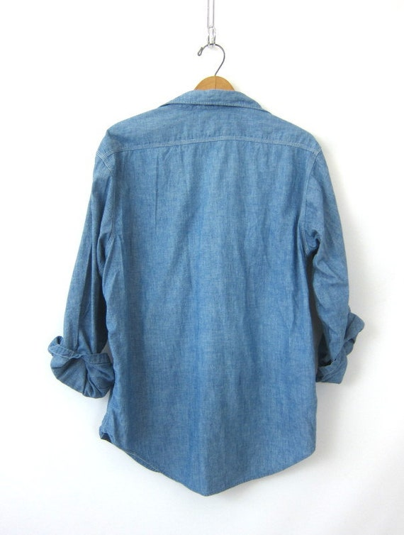 Boyfriend Oxford Shirt Medium Work shirt Jean Size Penneys Vintage BIG Sanforized MAC Denim button Large down Oversized Men's Shirt ZwZvTqP6