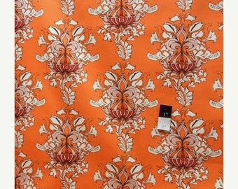 ON SALE Tina Givens SATG003 Lilliput Fields Vintage Orange Cotton Home Decor 1 Yard