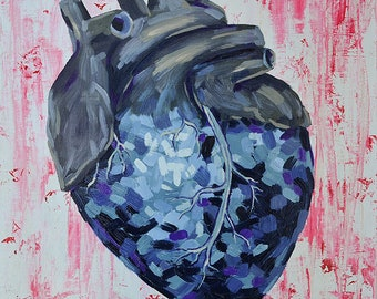 """Original art: """"Corazón Azul"""""""