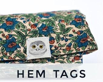 Custom Hem Tags - Organic Cotton Hem Labels, Printed in Color