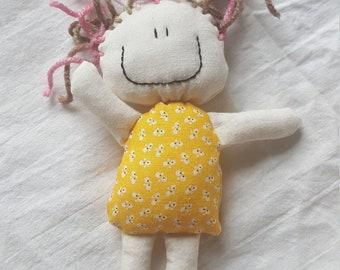 Small cloth doll - Blooming pals