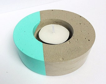 Candle holder - Candle - cement Pot - cement - jars - concrete candle holder candle holder
