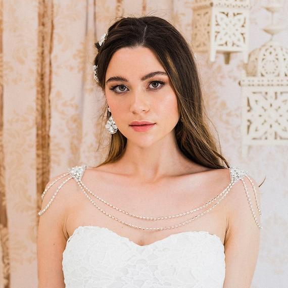 Farrah Bridal Shoulder Necklace Shoulder Jewelry Bridal