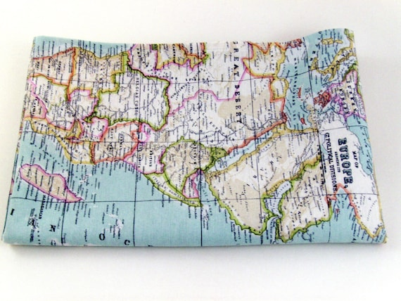 World map fabric map fabric world fabric blue fabric half like this item gumiabroncs Image collections