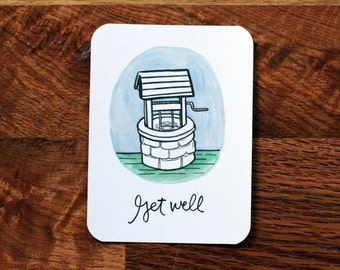 Get Well Card w/ Envelope
