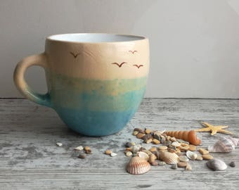 "Mug ceramic ""dreams of the sea"""