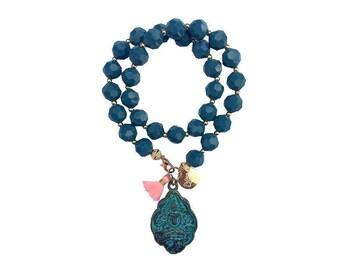 hippie bracelet buddha boho bohemian peace warpbracelet hippiejewellry gypsy armcandy festival petrol buddha