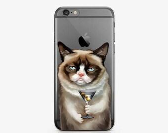Cat iPhone 8 Case iPhone 7 Plus Case iPhone X Case Phone iPhone 6 Plus Case Samsung Galaxy S7 Edge Case Samsung S8 Case Clear Case AC1069