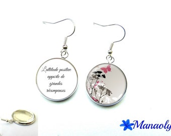 Quote 2417 glass cabochons earrings