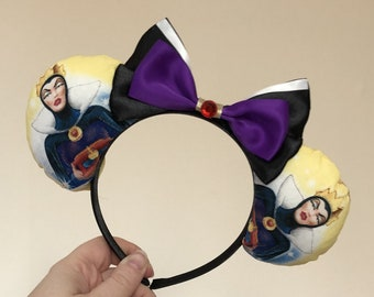 Evil Queen (Snow White) inspired Mickey/Minnie Disney ears