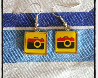 """earrings """"clic clac"""" colored"""