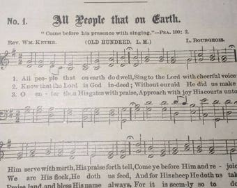 Vintage Gospel Hymns pages from 1894