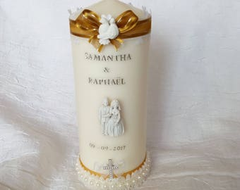 Personalized wedding candles
