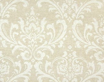 Oatmeal Beige Cloud Linen Damask Curtains  Rod Pocket  63 72 84 90 96 108 or 120 Long by 24 or 50 Wide