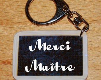 Keychain style slate of school thank you teacher - master gift