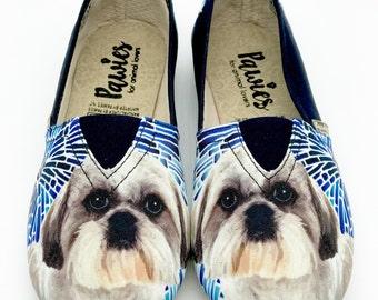 SHIH TZU SHOES, Shih tzu lovers, dog lovers, dog breeds, women shoes, pawies
